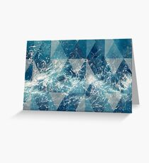 Geometric sea Greeting Card