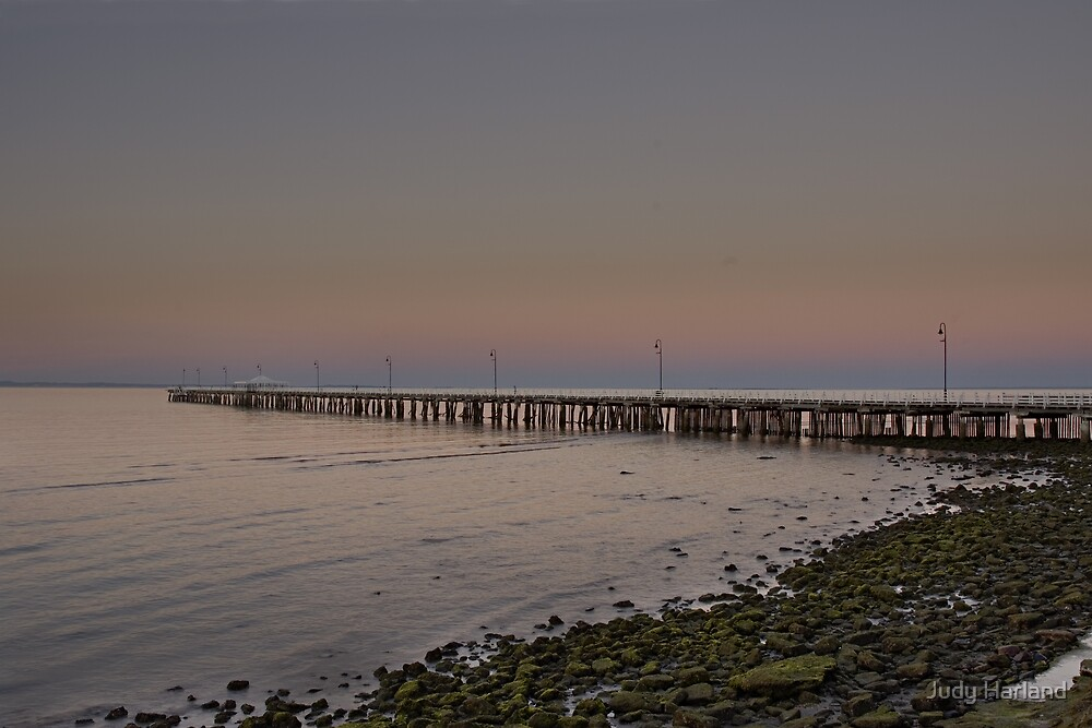 Shorncliffe Pier Sunset by Judy Harland