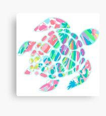 Lilly Pulitzer Sea Turtle- #3 Canvas Print