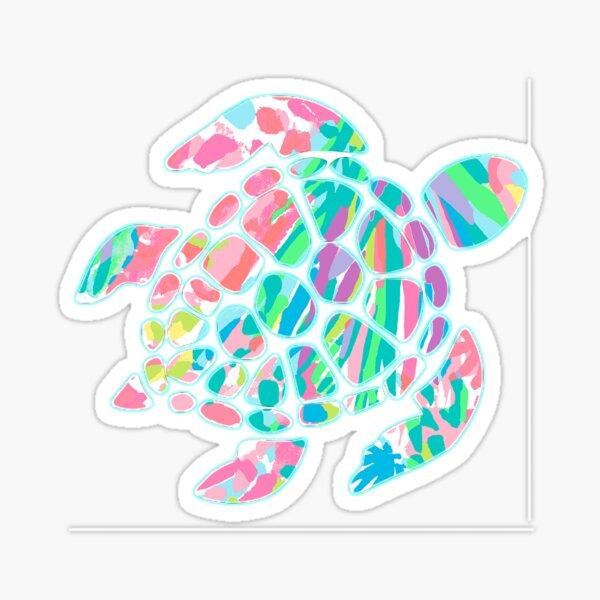 Lilly Pulitzer Sea Turtle- #3 Sticker