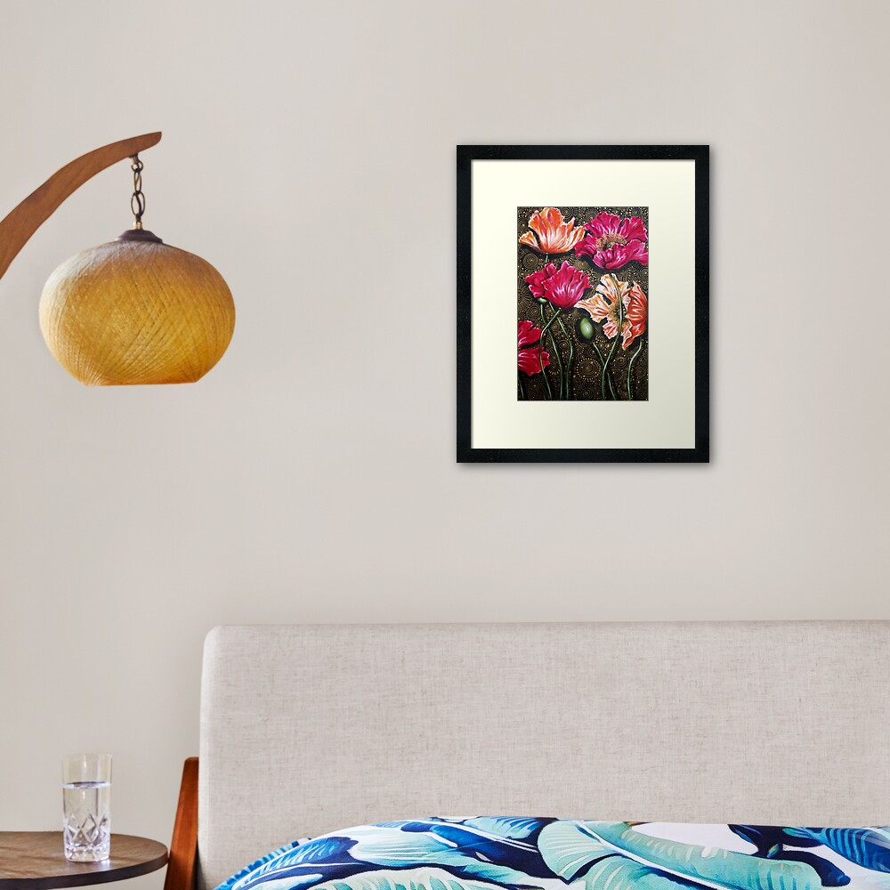 Iceland Poppy Mix Framed Art Print