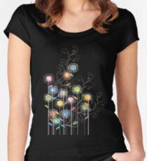 My Groovy Flower Garden Grows II Women's Fitted Scoop T-Shirt