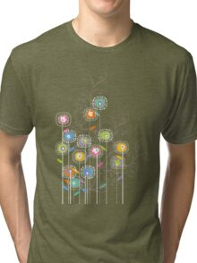 My Groovy Flower Garden Grows II Tri-blend T-Shirt