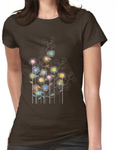 My Groovy Flower Garden Grows II Womens Fitted T-Shirt