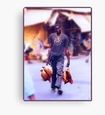 Carrying Chickens to Dakar Canvas Print