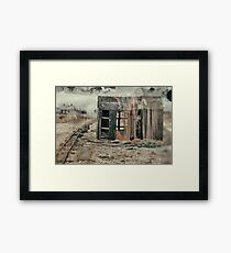 A Shack by the Track Framed Print