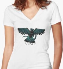 It's wings are the night sky Women's Fitted V-Neck T-Shirt