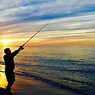 Sunset Fishing, Race Point Beach by CapeCodWave