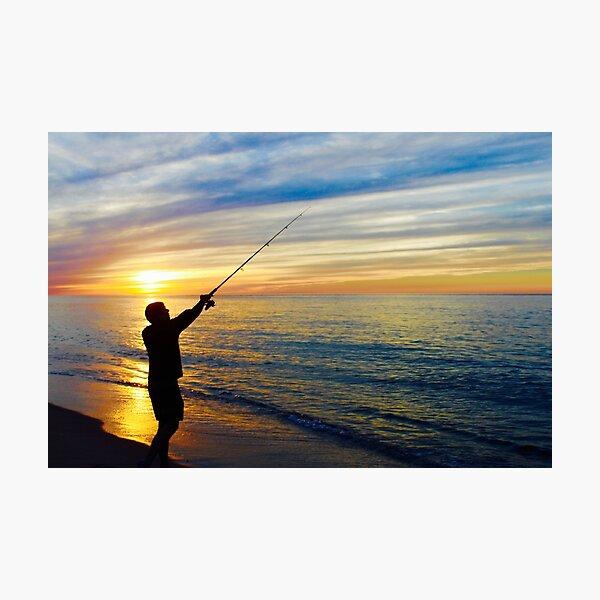 Sunset Fishing, Race Point Beach Photographic Print
