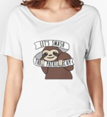 "Feminist Sloth ""Smash the Patriarchy"" Women's Relaxed Fit T-Shirt"