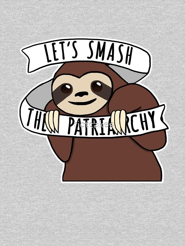 "Feminist Sloth ""Smash the Patriarchy"" by riotcakes"