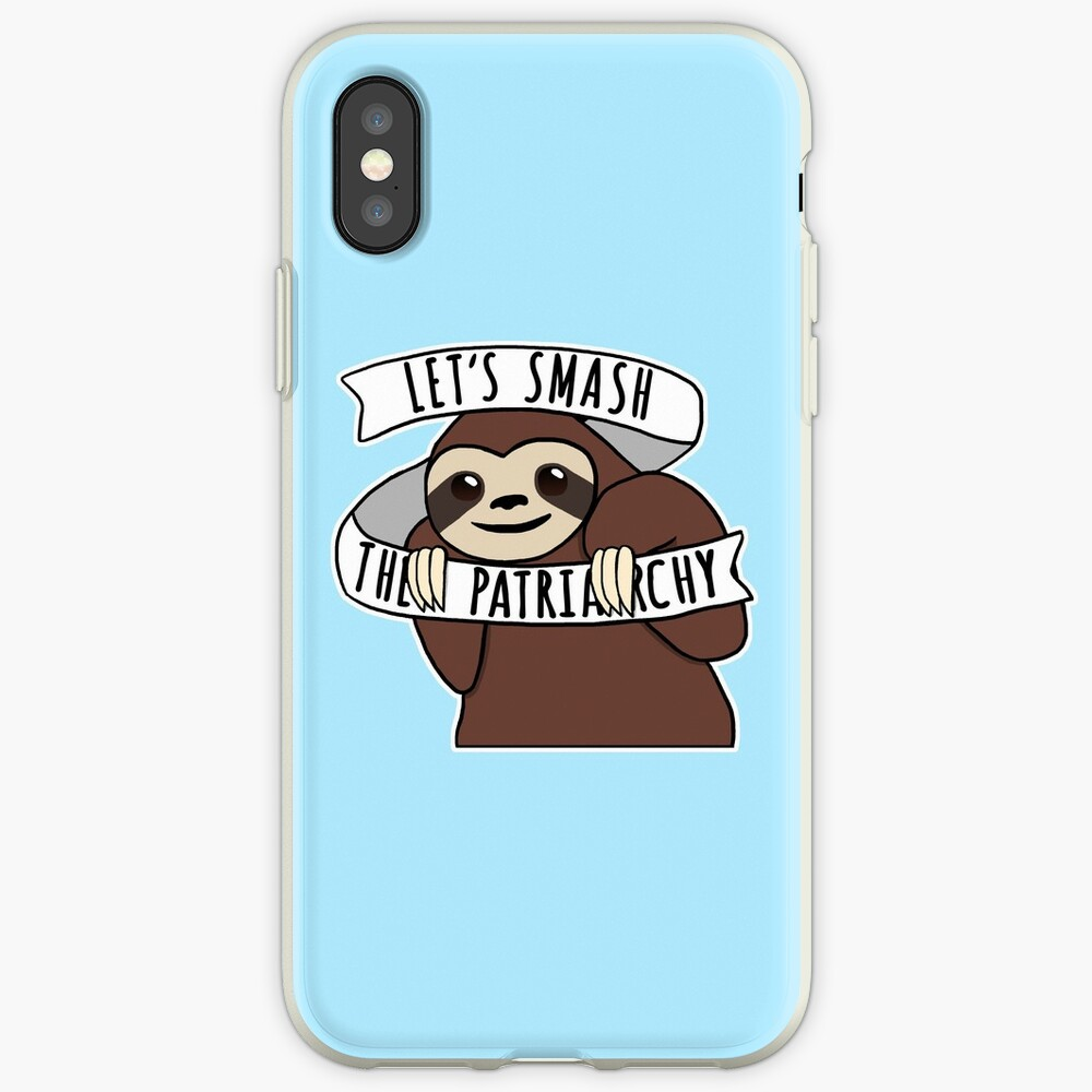 """Feminist Sloth """"Smash the Patriarchy"""" iPhone Case & Cover"""