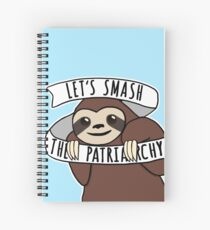 "Cuaderno de espiral Sloth feminista ""Smash the Patriarchy"""