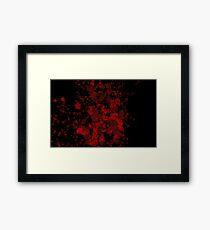 Blood Spatter Framed Print