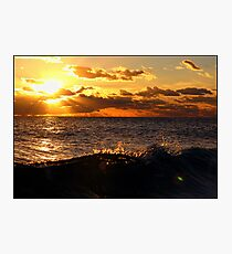 Sunset Spray Wave Photographic Print