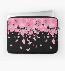 Grafische Kirschblüte-Blumen Laptoptasche