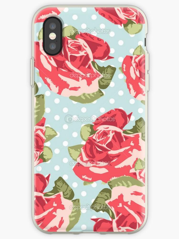 reputable site 4cc3d b501a 'Pink & Blue Rose Pattern' iPhone Case by Ravanna Lotus