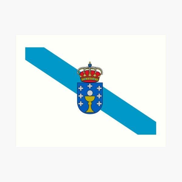 Bandera de Galicia / Bandeira Galega / Bandera Galiciana Lámina artística