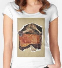 Egon Schiele -Troubled Woman Women's Fitted Scoop T-Shirt