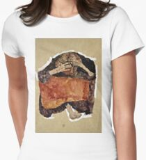 Egon Schiele -Troubled Woman Women's Fitted T-Shirt