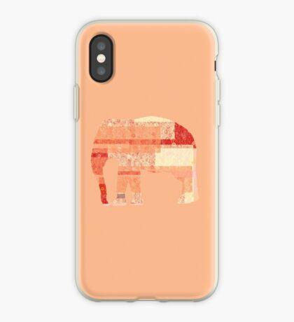Peach Elephant  iPhone Case