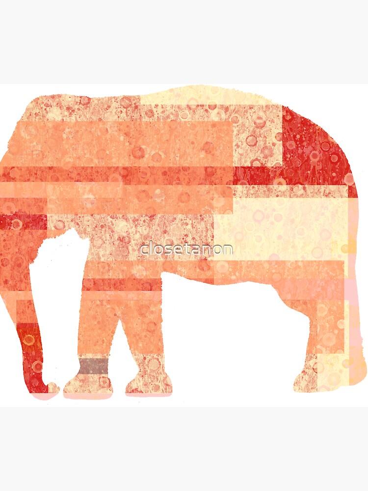 Peach Elephant  by closetanon