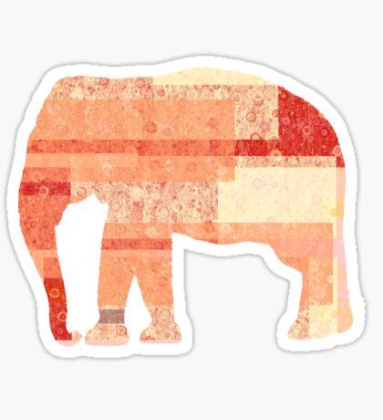 Peach Elephant  Sticker