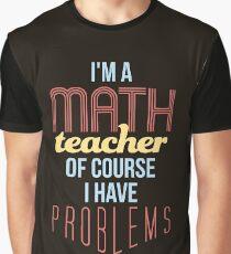 Math Teacher Graphic T-Shirt