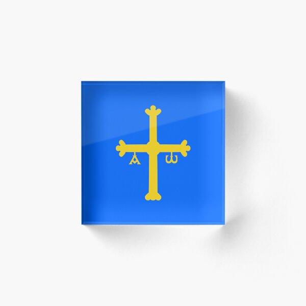 Asturias Flag / Bandera de Asturias Acrylic Block