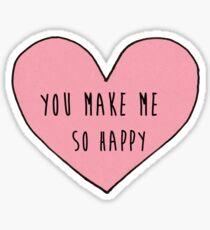 you make me so happy Sticker