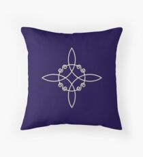 Witch`s Knot, Power Of 4 Elements, Magic, Mystic, Witchcraft, Wicca Throw Pillow