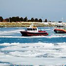 Escort Through Ice, Cape Cod Canal by CapeCodWave