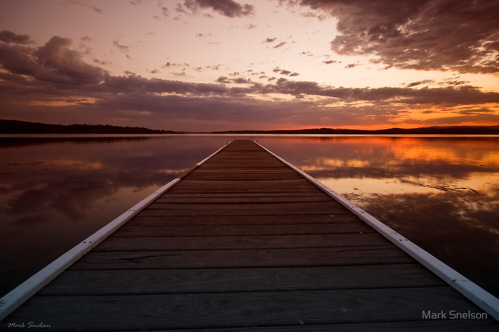 Warners Bay Sunset 5 by Mark Snelson