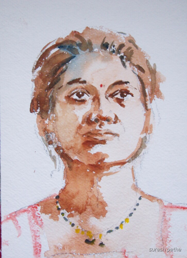 Portrait of lady by suresh pethe