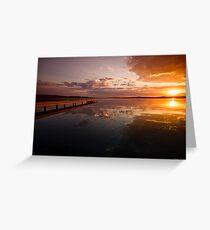 Warners Bay Sunset 6 Greeting Card