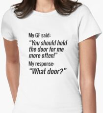 What Door? (GF Edition) Womens Fitted T-Shirt