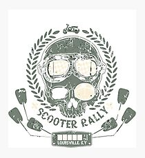 Scooter rally skull Photographic Print