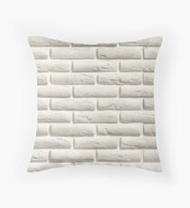 White Brick | Pattern Throw Pillow