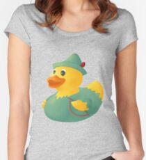 Robin Hood-Gummiente Tailliertes Rundhals-Shirt