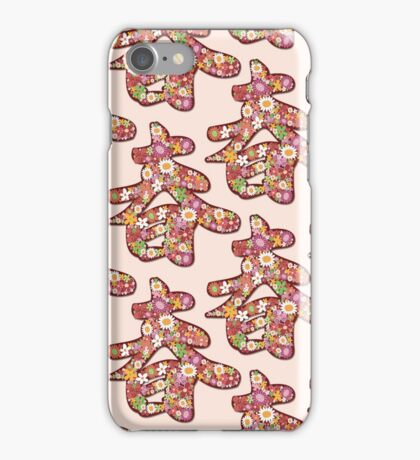 Chinese Calligraphy Chūn With Pink Spring Flowers | Auspicious Oriental Kanji Writing iPhone Case/Skin