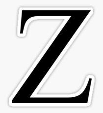 Zeta Plain Black Sticker