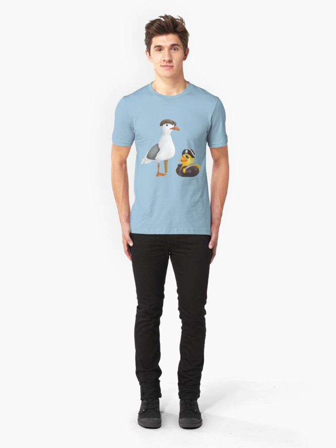 Alternative Ansicht von Gummiente und Seagull Pirates Slim Fit T-Shirt