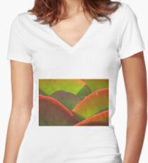 Backlit Women's Fitted V-Neck T-Shirt