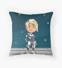Pixel Cora Throw Pillow