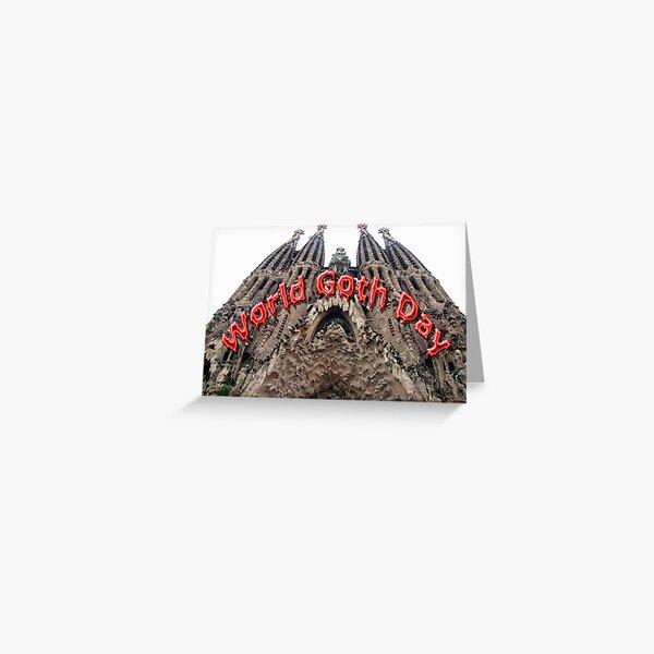 Word Goth Day (Gothic Church) Greeting Card