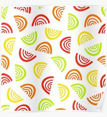 Abstract fruit segment pattern. Simple seamless summer background. Poster