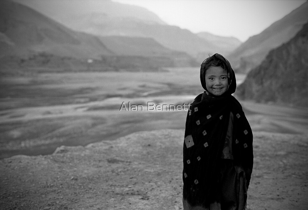 Kagbeni Girl, Nepal by Alan Bennett