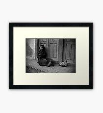 Child, Dog and Chook Framed Print
