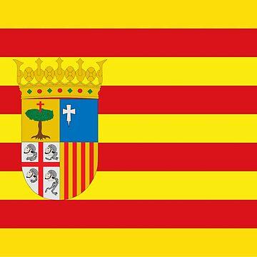 Flag of Aragón, Senyera, Bandera Aragonesa by Wyllydd