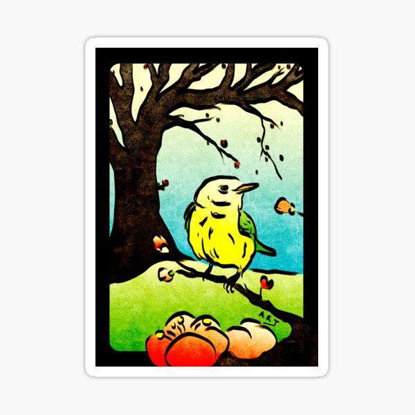 Hanami (February Plum) Sticker